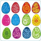 Eggs Easter design - vector set — Stock Vector