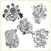 Floral Design - vector set easter symbols — Stock Vector