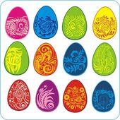 Eggs Easter design - vector set — Stockvektor