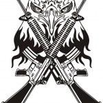 Military Design - vinyl-ready vector illustration. — Stock Vector