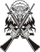Projeto militar - ilustração vetorial vinil-pronto. — Vetor de Stock