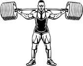Bodybuilding and Powerlifting - vector. — Stock Vector