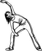 векторные иллюстрации - фитнес-женщин. — Cтоковый вектор