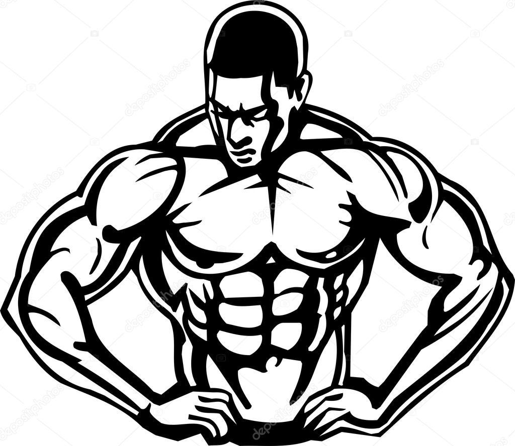 Bodybuilding and Powerlifting - vector. — Stock Vector