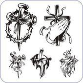 Christian symbols - vector illustration. — Stock Vector
