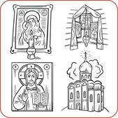 Orthodox religion - vector illustration. — Stockvector