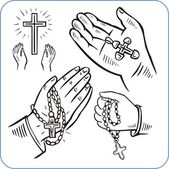 Hands and crosses - vector illustration. — Stock Vector