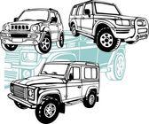 Off-Road Cars - Vector set. — 图库矢量图片