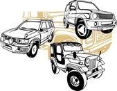Off-Road Cars - Vector set. — Vetorial Stock