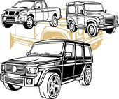 Off-Road Cars - Vector set. — Stock Vector