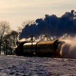 Old retro steam train — Foto Stock