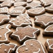 Different Shapes of Gingerbread Cookies — Stockfoto