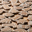 Different Shapes of Gingerbread Cookies — Stock Photo