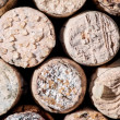 Wine Crystals on old Corks — Stock Photo