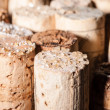 Stock Photo: Wine Crystals on old Corks