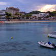 beach of paguera in majorca at sunset — Stock Photo
