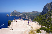 Tourists at Cape Formentor in Mallorca — Stock Photo