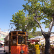 Classic wood tram train of Puerto de Soller in Mallorca, Spain — Stock Photo
