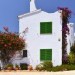 Typical House With Flower Pots in Mallorca, Spain — Stock Photo