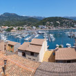 Panorama View of Port de Soller in Mallorca, Spain — Stock Photo