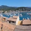 Panorama View of Port de Soller in Mallorca, Spain — Stock Photo