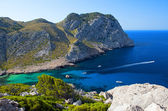 Beautiful Beach Bay Called Cala Figuera on Cape Formentor in Mal — Stock Photo