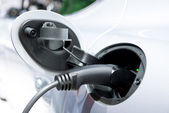 Charging A Hybrid Car — Stock Photo