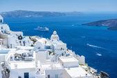 Beautiful View From Fira, Santorini, Greece — Stock Photo