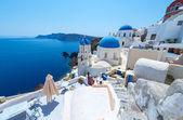 Beautiful White Village Of Oia In Santorini, Greece — Stock Photo