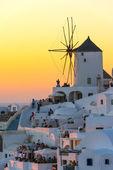 Amazing Sunset in Oia in Santorini, Greece — Stock Photo