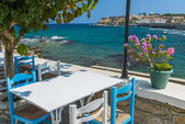 Tavern By The Sea in Greece — Stock Photo