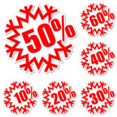 Discount labels — Stockvector