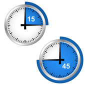 Seconds timer — Stock Vector