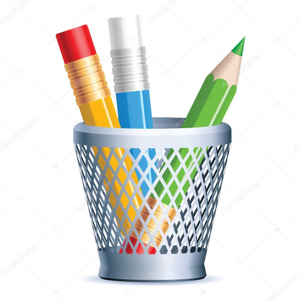 一堆彩色铅笔,矢量 eps 8 — 矢量图片作者 cowpland