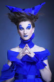 Mujer en azul — Foto de Stock