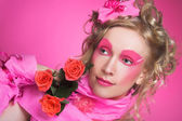 Woman in pink. — Stock Photo