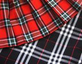 Checked fabric — Stock Photo