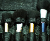 Professional make-up artist brush's — Stock Photo
