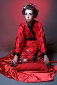 Dziewczyna w japanise stylu — Zdjęcie stockowe