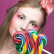 Girl with lollipop — Stock Photo #28751663