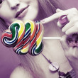 Girl with lollipop — Stock Photo #28825049
