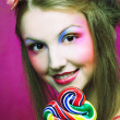 Girl with lollipop — Stock Photo #28913703