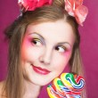 Girl with lollipop — Stock Photo #28913717