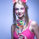 Girl with lollipop — Stock Photo #28913753