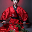 Girl in japanise style — Stock Photo