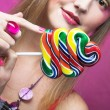Girl with lollipop — Stock Photo #29010253