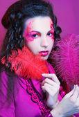 Girl in pink. — Stockfoto