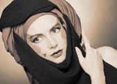 Jovem mulher com maquiagem criativa — Foto Stock