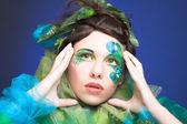 Creative lady — Stock Photo