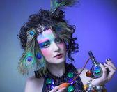 ピーコック画像の女性. — ストック写真